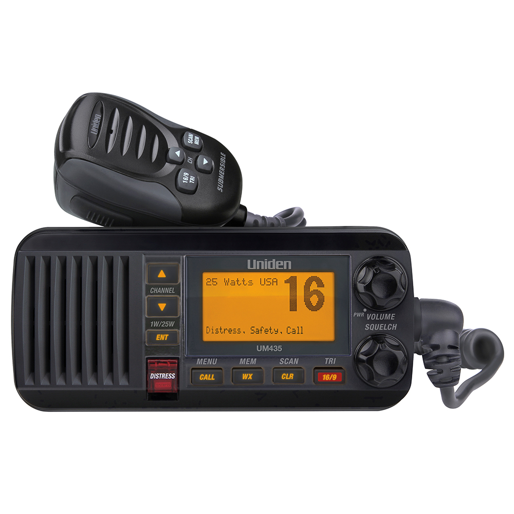 UNIDEN UM435 FIXED MOUNT VHF RADIO BLACK