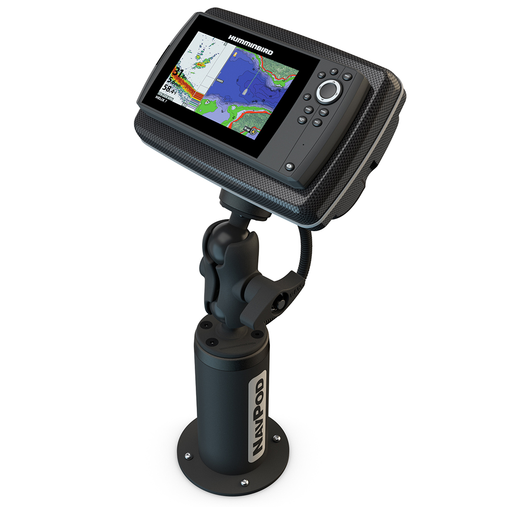 NavPod PedestalPod with RAM Mount Pre-Cut for Humminbird HELIX 7 Series 7 -  Carbon Black - PEDRS4500-05-C | Anchor Express