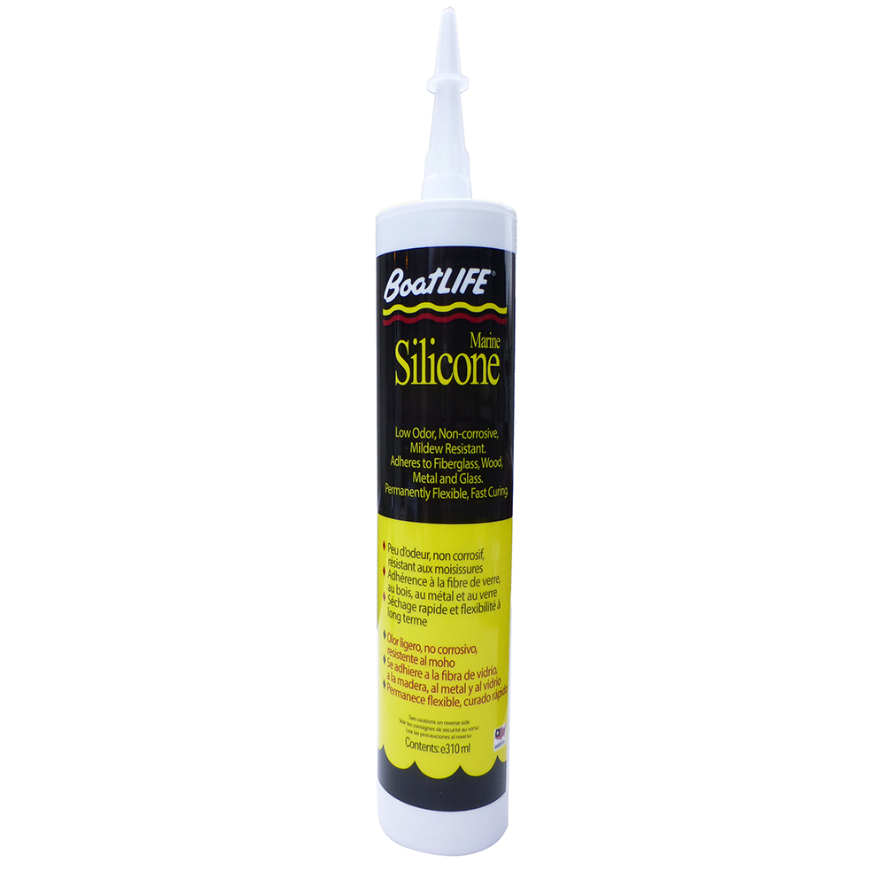BoatLIFE Silicone Rubber Sealant Cartridge - Black - 1152