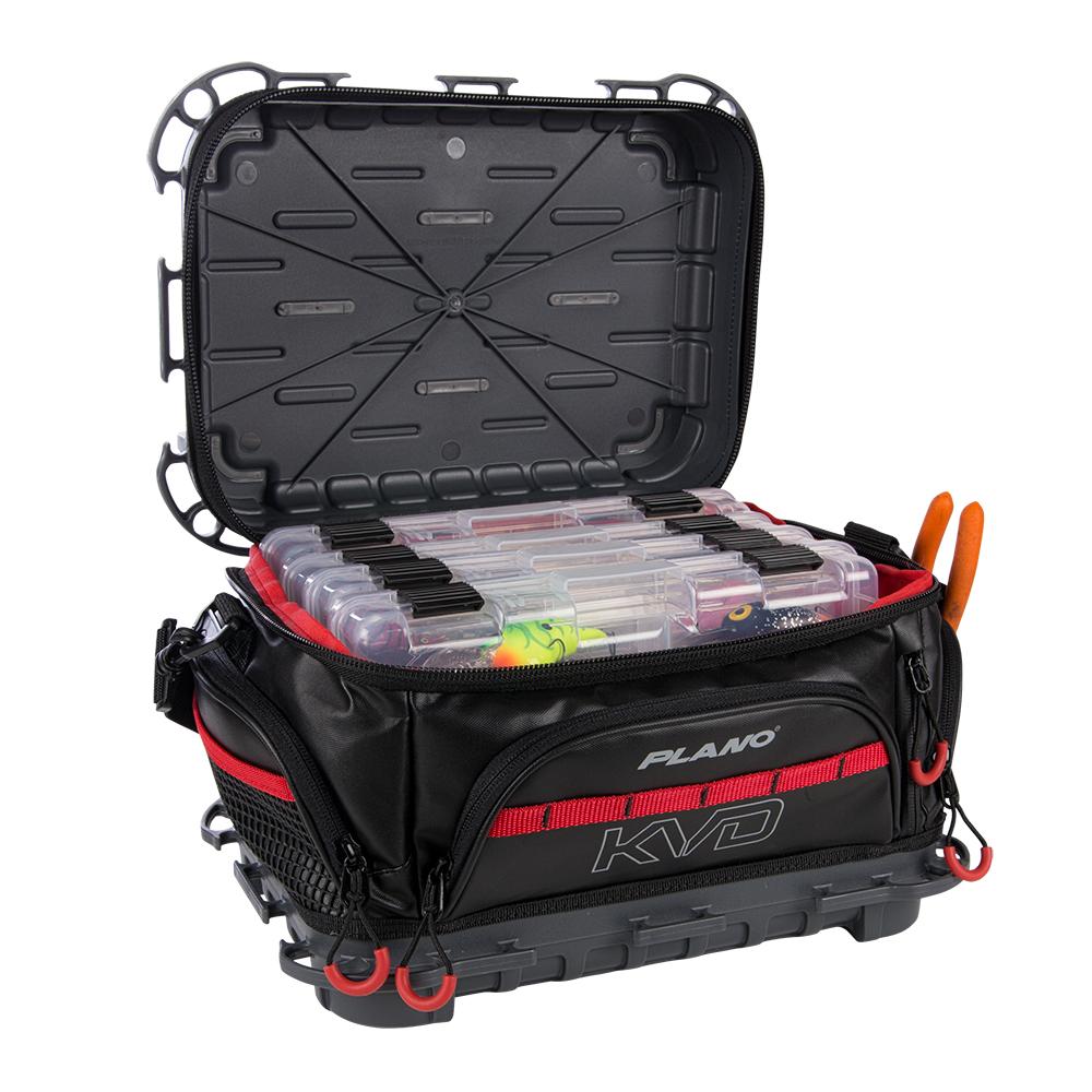 PLAB36700 KVD Signature Series 3600 Size Tackle Bag Black//Grey//Red