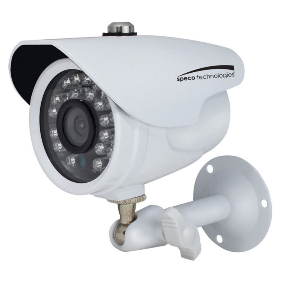 Speco HD-TV1 2MP Color Waterproof Marine Bullet Camera with IR, 10' Cable, 3.6mm Lens, White Housing - CVC627MT
