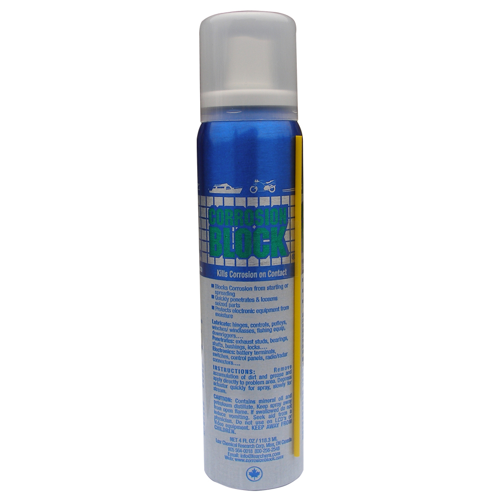 Corrosion Block Liquid Pump Spray - 4oz - Non-Hazmat, Non-Flammable and Non-Toxic - 20002
