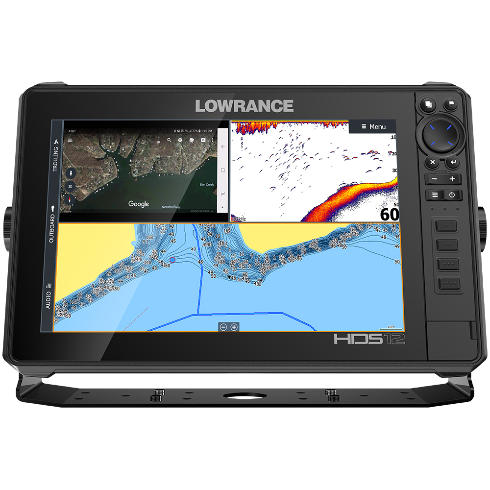 Lowrance HDS-12 LIVE with Active Imaging 3-in-1 Transom Mount & C-MAP Pro Chart - 000-14428-001