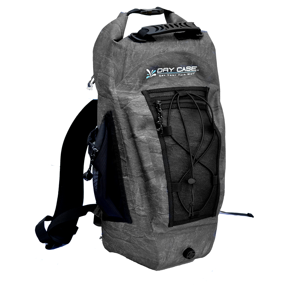 DryCASE Basin Black 20 Liter Waterproof Sport Backpack - BP-20-BLK