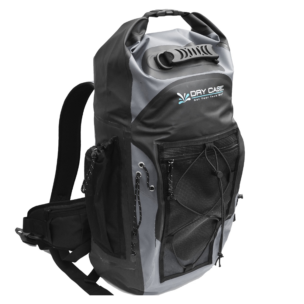 DryCASE Masonboro Gray 35 Liter Waterproof Adventure Backpack - BP-35-GRY