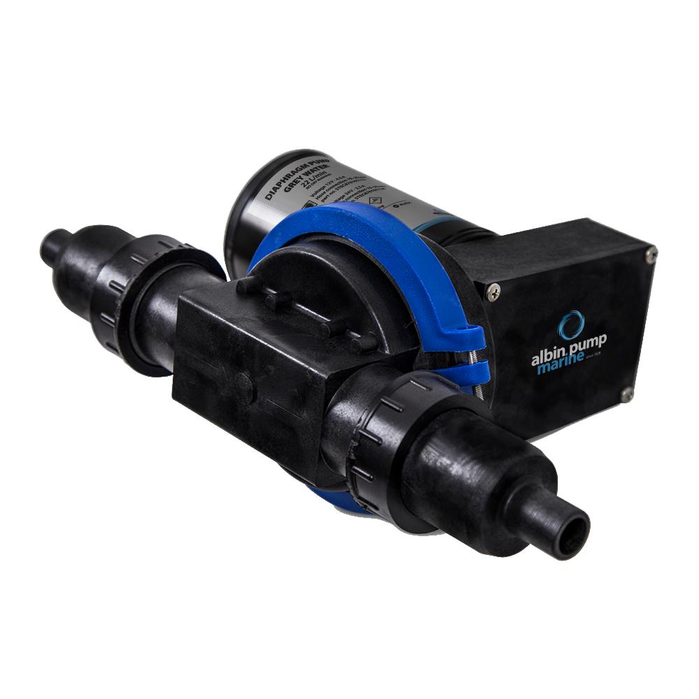 Albin Pump Waste Water Diaphragm Pump 22L (5.8 GPM) - 12V CD-73482