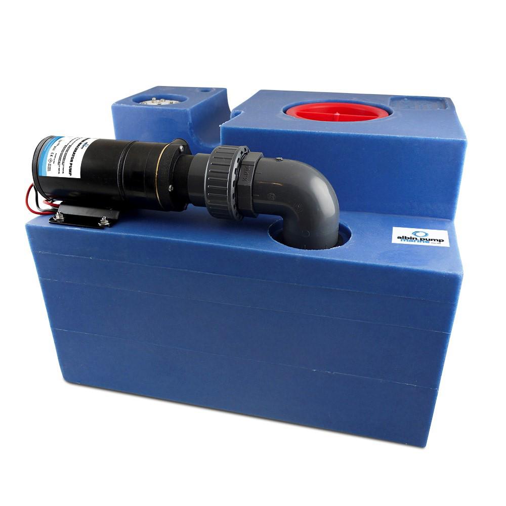 Albin Pump 12 Gallon (47L) Waste Water Tank CPL Macerator - 12V CD-73508