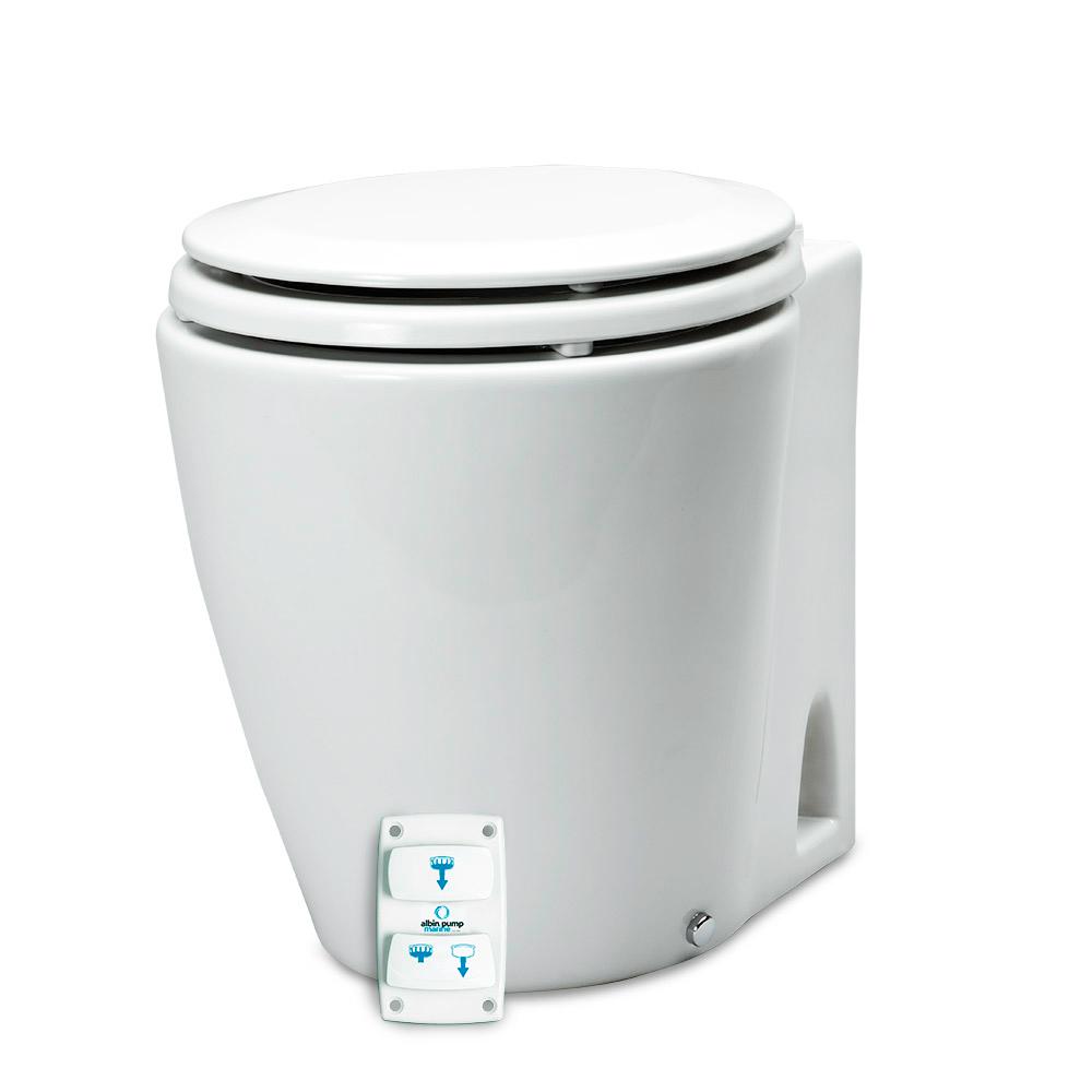 Albin Pump Marine Design Marine Toilet Silent Electric - 12V CD-73552