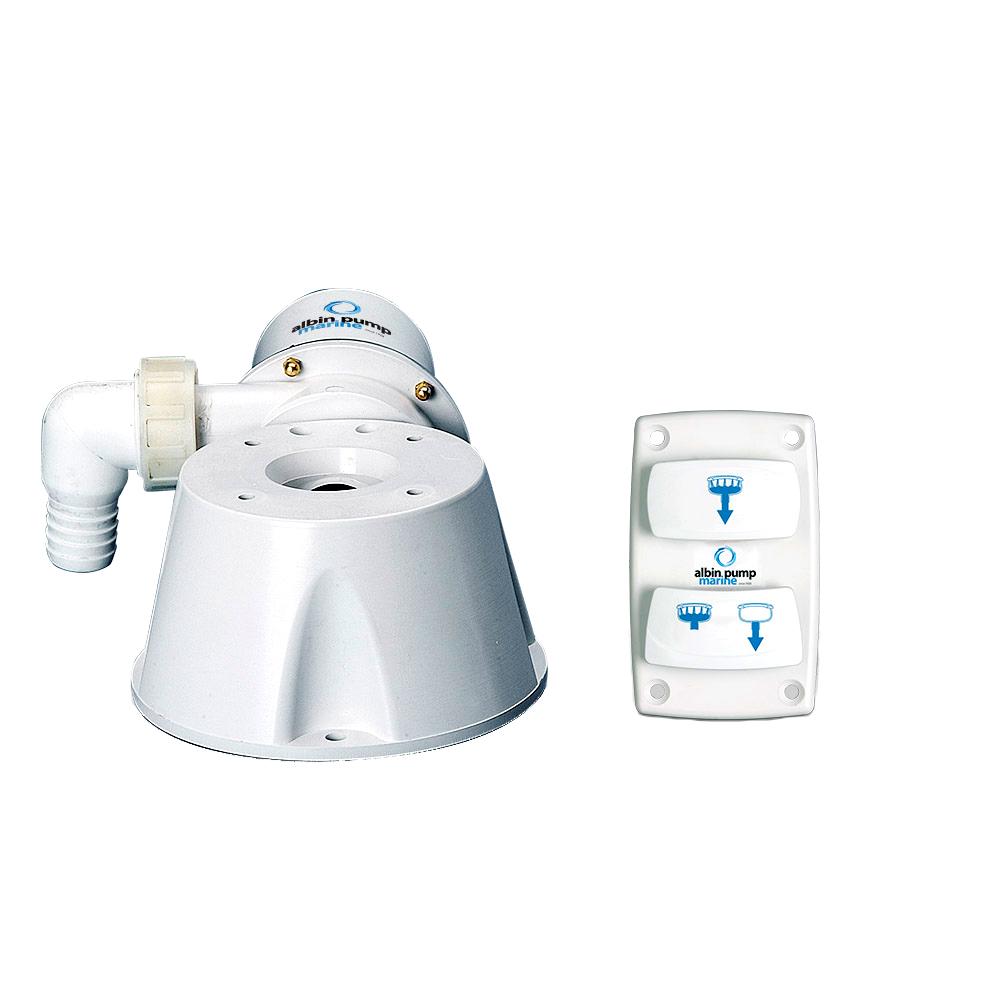 Albin Pump Marine Silent Electric Toilet Kit - 12V CD-73561