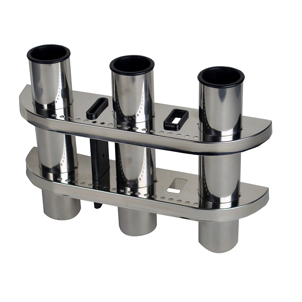 C.E. Smith Triple Rod Holder 304 Stainless Steel - 53625A