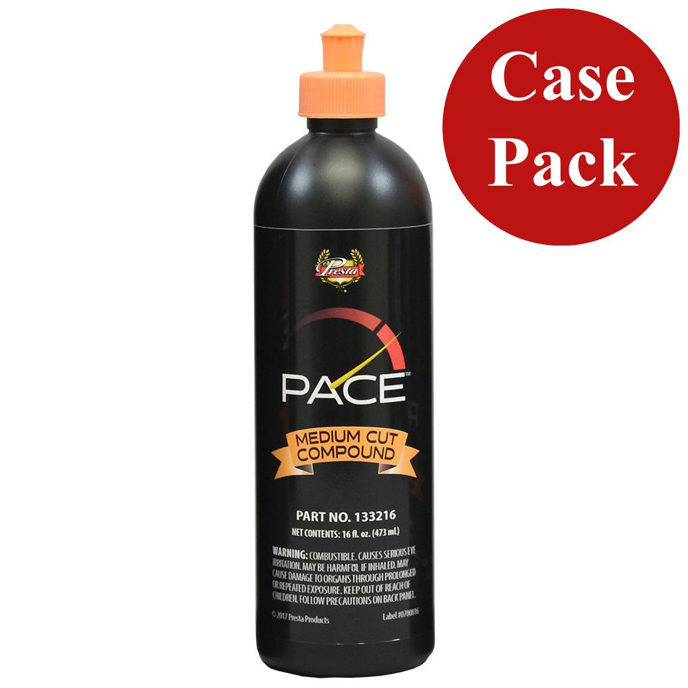 Presta PACE Medium Cut Compound - 16oz - *Case of 6* - 133216CASE