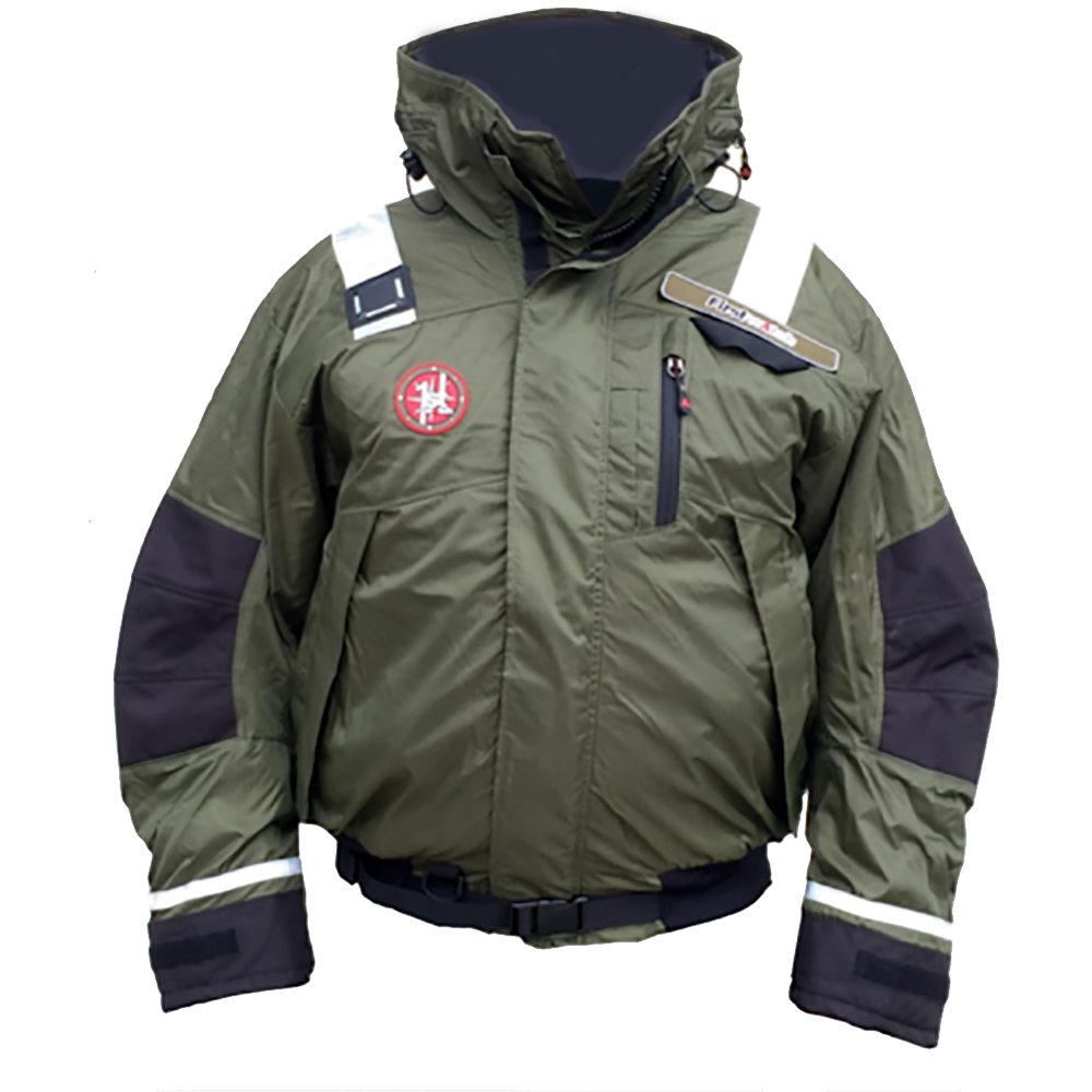 First Watch AB-1100 Pro Bomber Jacket - Large - Green - AB-1100-PRO-GN-L