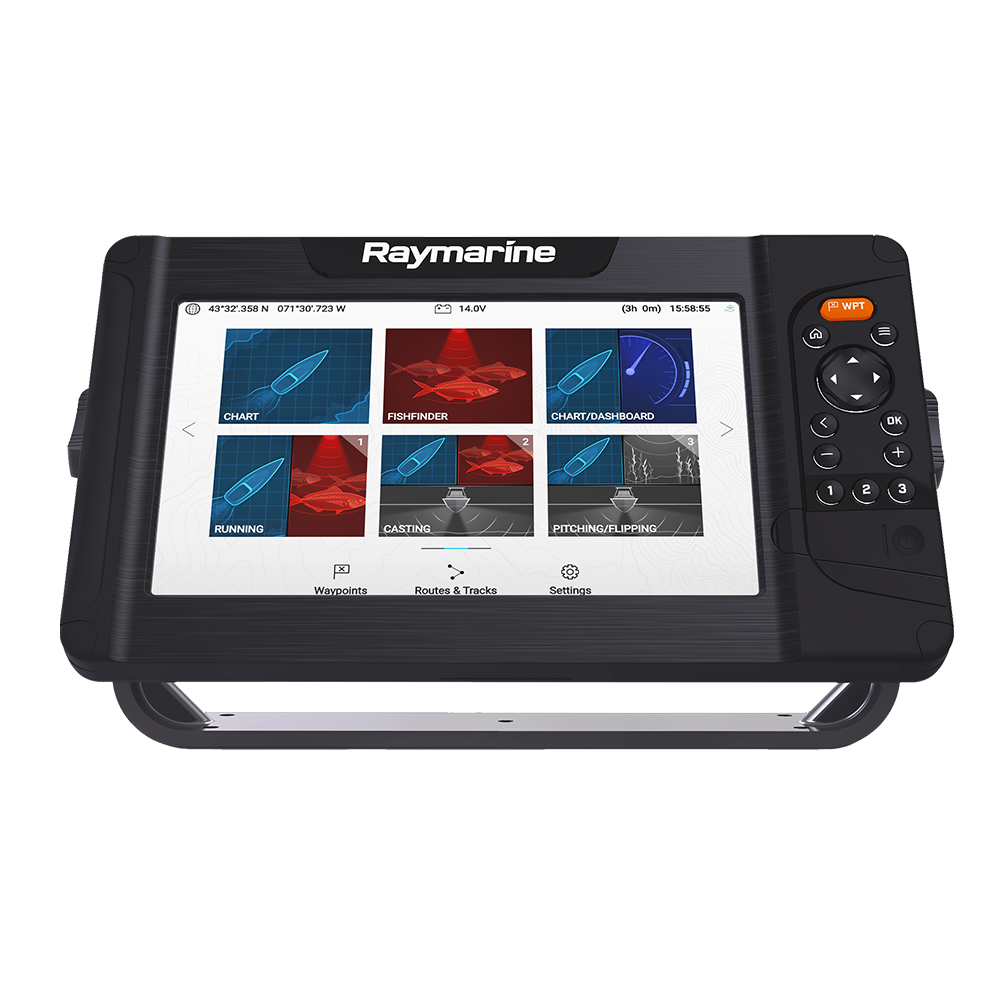 Raymarine Element 9 HV Combo with LNC2 US Chart with Fishing Hot Spots - E70534-00-101