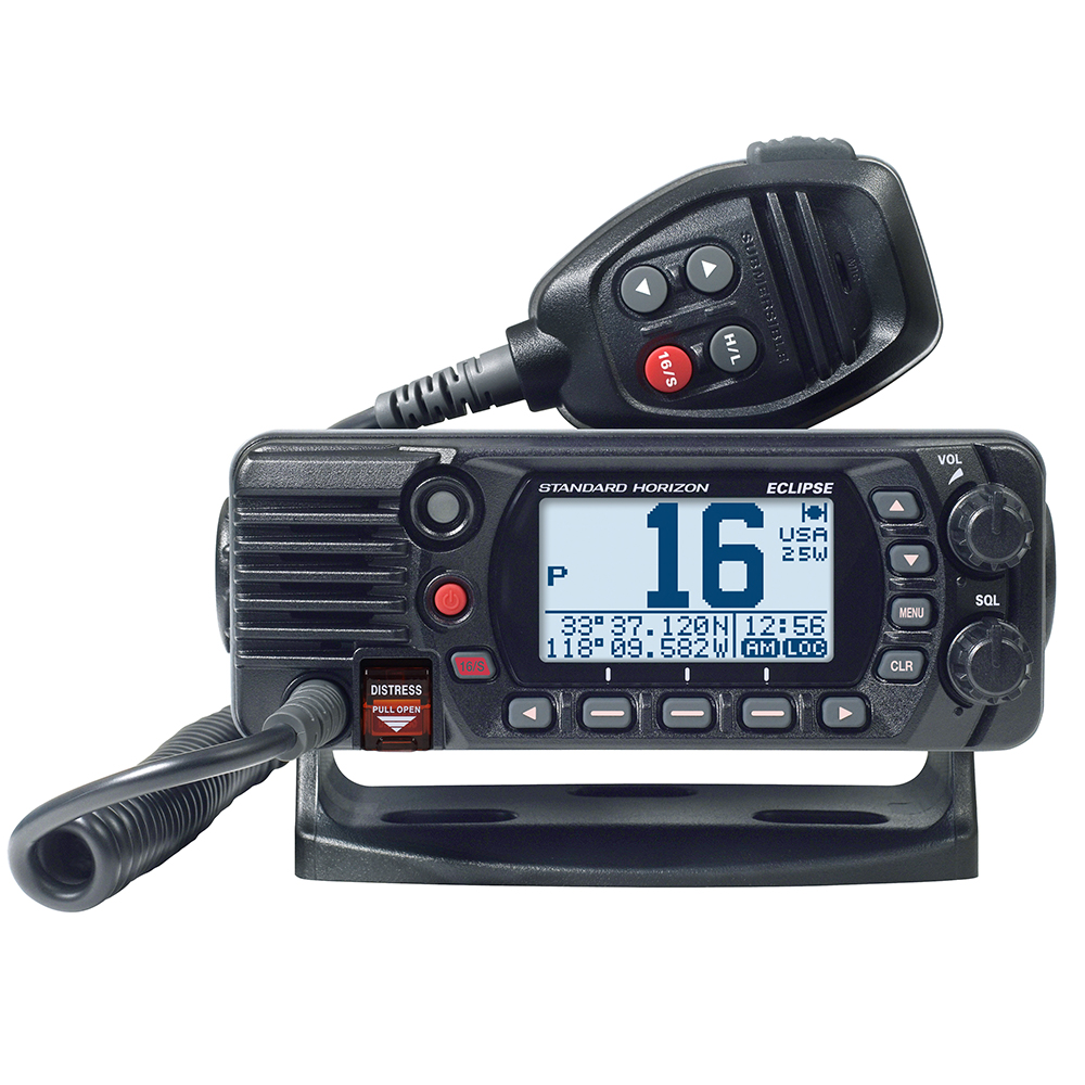 Standard Horizon GX1400G Fixed Mount VHF with GPS - Black - GX1400GB