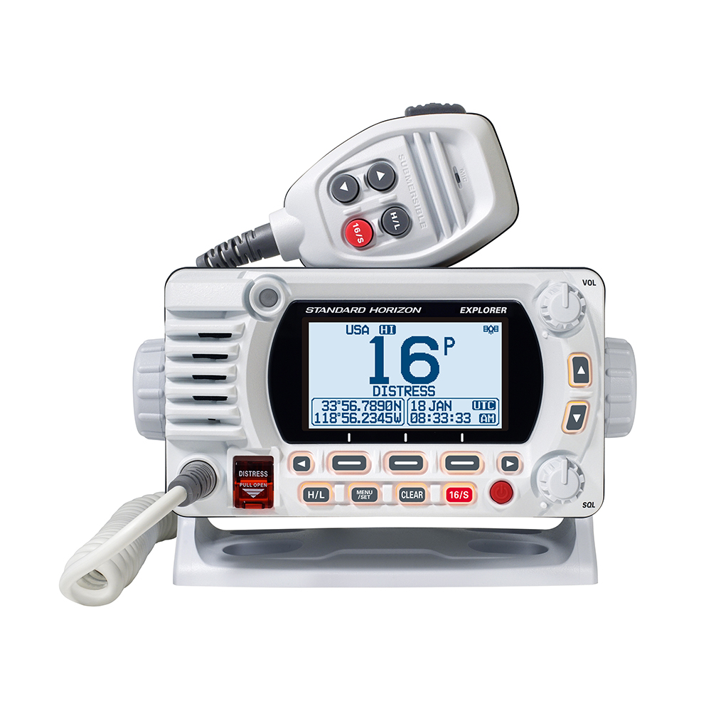 Standard Horizon GX1800G Fixed Mount VHF with GPS - White - GX1800GW