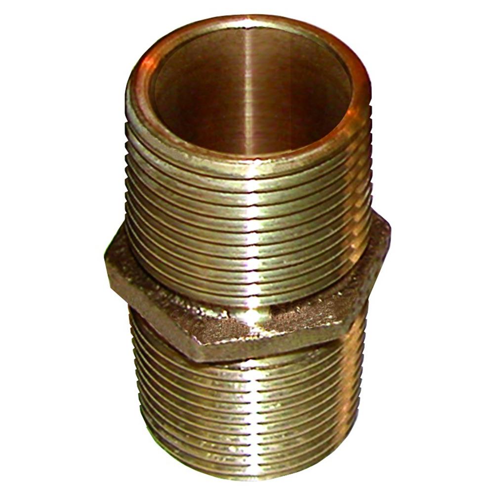 GROCO Bronze Pipe Nipple - 1/2