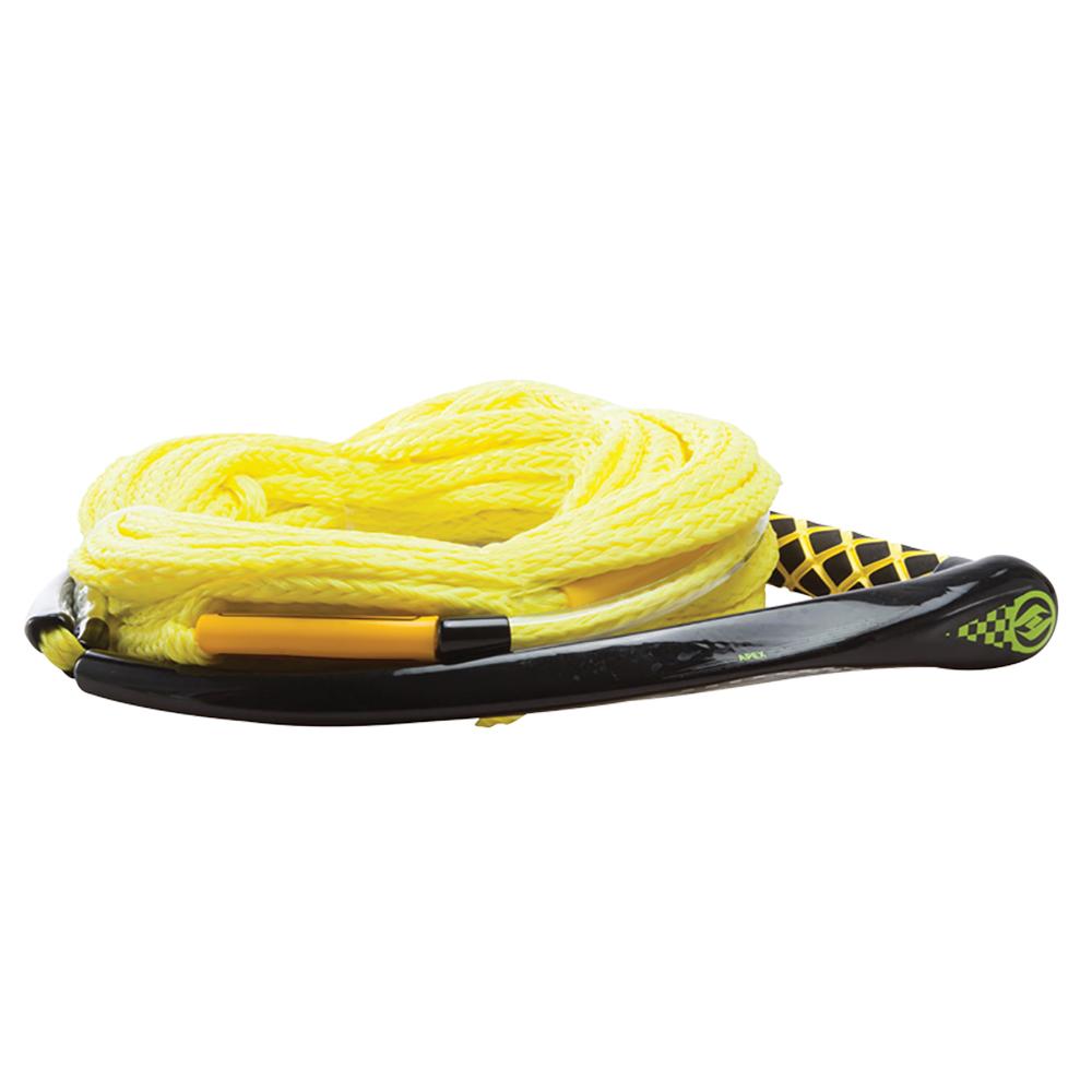 Hyperlite Apex PE EVA Handle - 65' Wakeboard Rope - Yellow - 4 Sections - 15