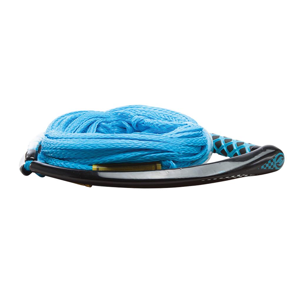 Hyperlite Apex PE EVA Handle - 65' Wakeboard Rope - Blue - 4 Sections - 15