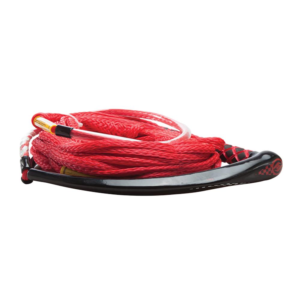 Hyperlite Apex PE EVA Handle - 65' Wakeboard Rope - Red - 4 Sections - 15