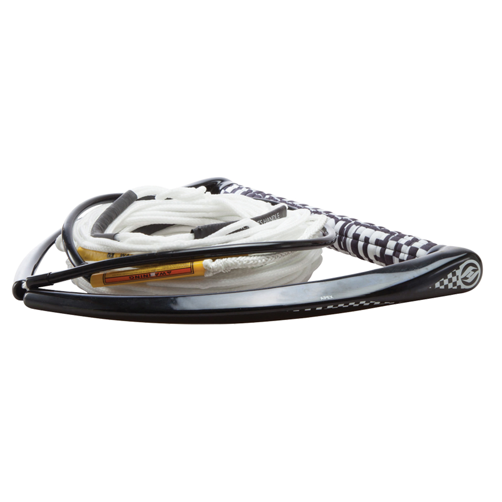 Hyperlite 75' Rope with Chamois Handle Fuse Mainline Combo - White - 5 Section - 15