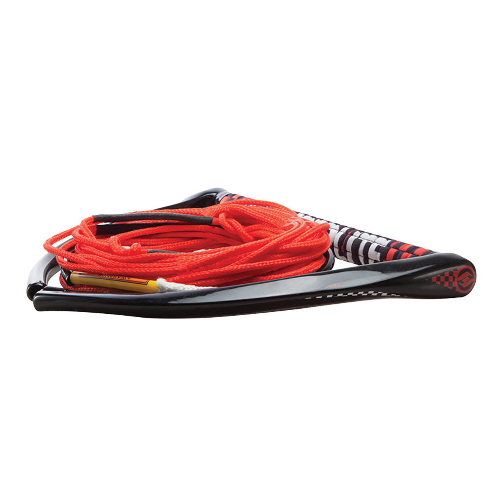 Hyperlite 75' Rope with Chamois Handle Fuse Mainline Combo - Red - 5 Section - 15