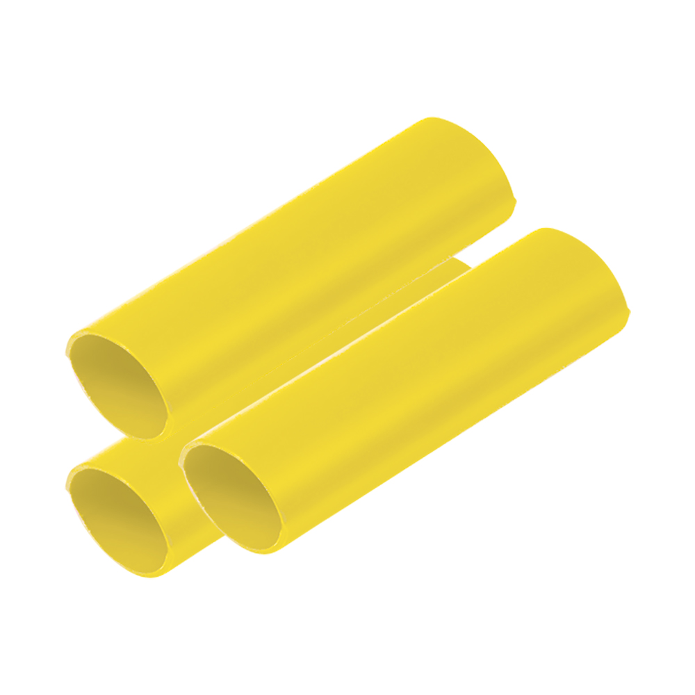 """Ancor Battery Cable Adhesive Lined Heavy Wall Battery Cable Tubing (BCT) - 3/4"""" x 12"""" - Yellow - 3 Pieces CD-75550"""