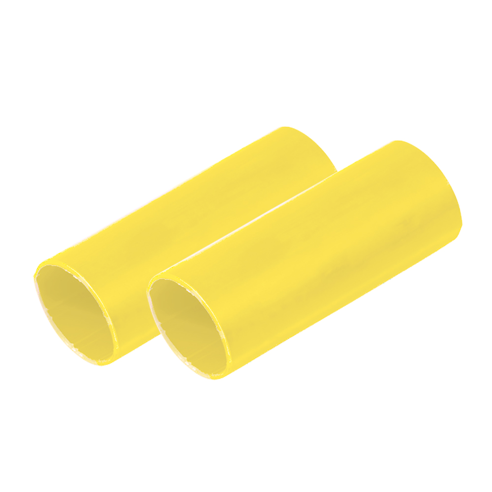 """Ancor Battery Cable Adhesive Lined Heavy Wall Battery Cable Tubing (BCT) - 1"""" x 6"""" - Yellow - 2 Pieces CD-75557"""
