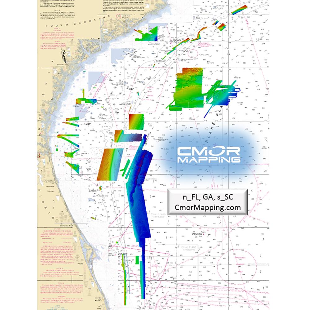 CMOR Mapping North Florida, Georgia and South Carolina for Simrad, Lowrance, BandG and Mercury - NEFL002S