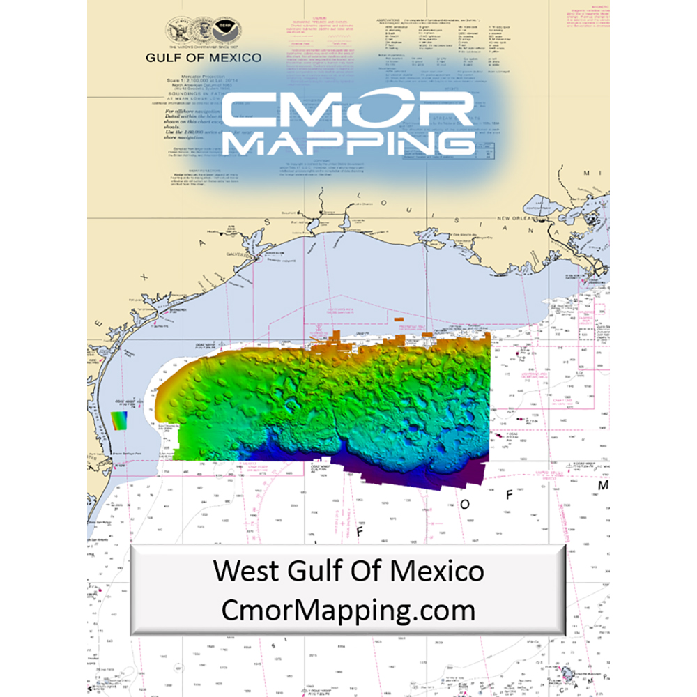 CMOR Mapping West Gulf of Mexico for Simrad, Lowrance, BandG and Mercury - WGOM001S