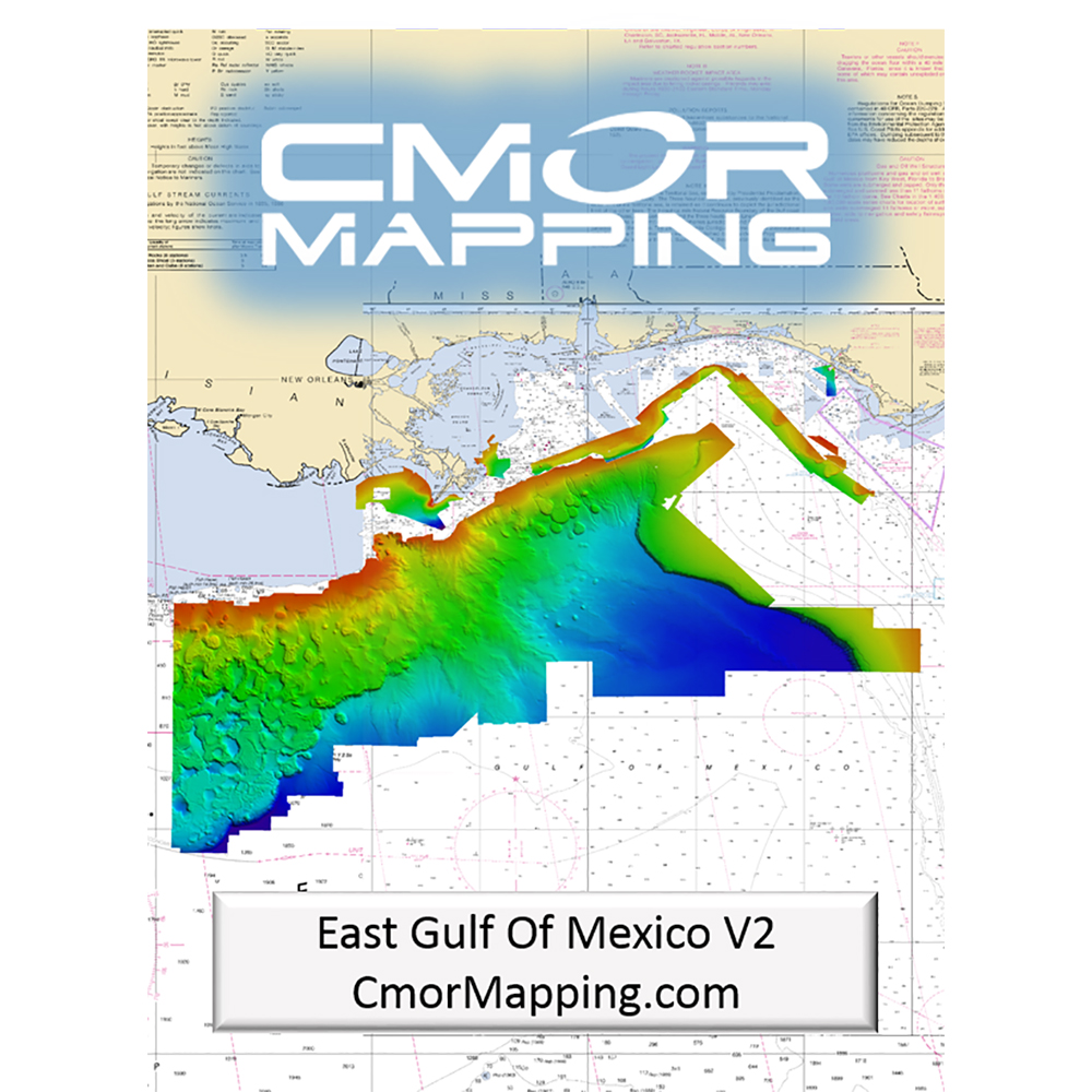 CMOR Mapping East Gulf of Mexico for Simrad, Lowrance, BandG and Mercury - EGOM002S