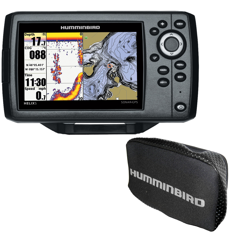 Humminbird HELIX 5 Chirp GPS G2 Combo with Free Cover - 410210-1\COVER