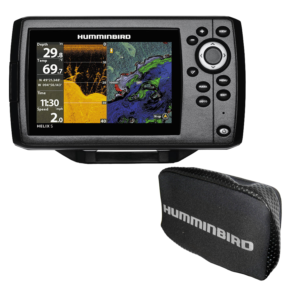 Humminbird HELIX 5 CHIRP DI GPS G2 Combo with Free Cover - 410220-1\COVER