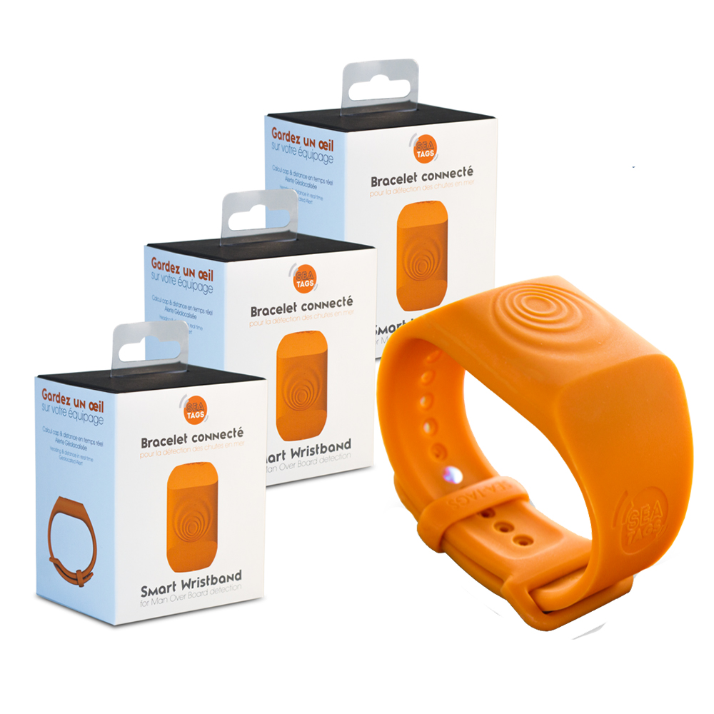 Sea-Tags MOB Smart Wristband - 3-Pack - ST002-3PACK