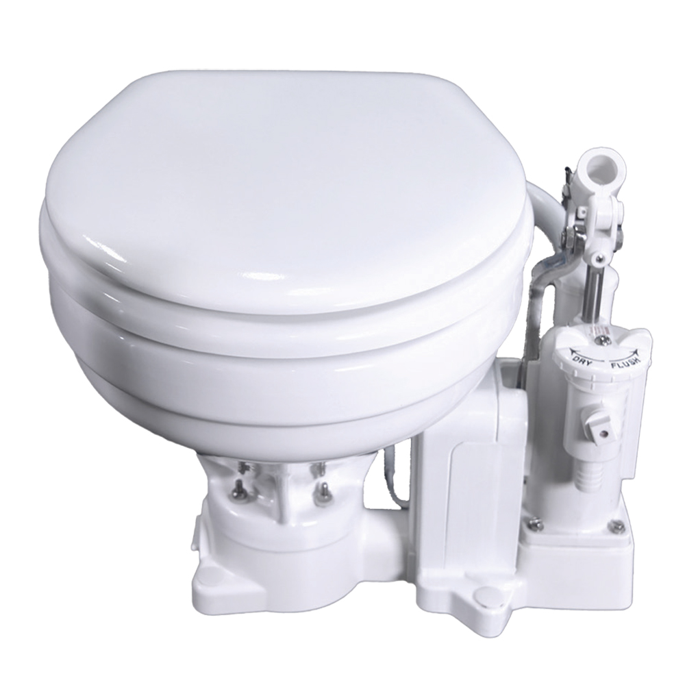 Raritan PH PowerFlush Electric Marine Bowl Toilet - 12V - White - P101E12