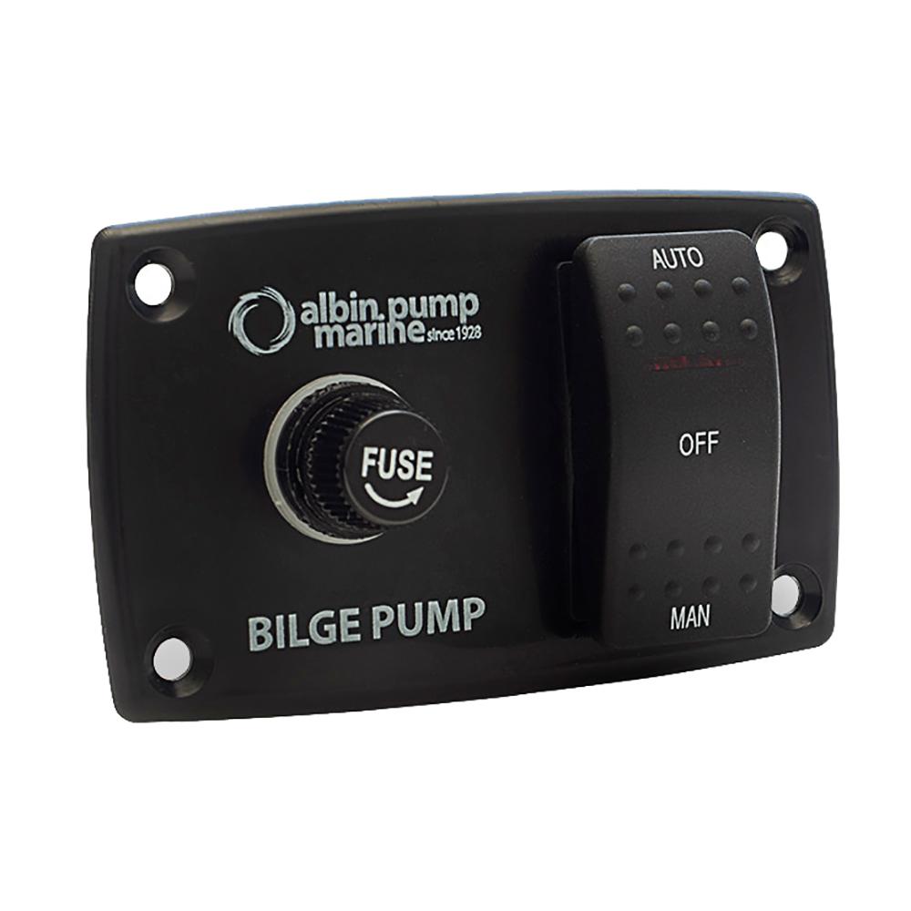 Albin Pump 3-Way Bilge Panel - 12/24V CD-76907