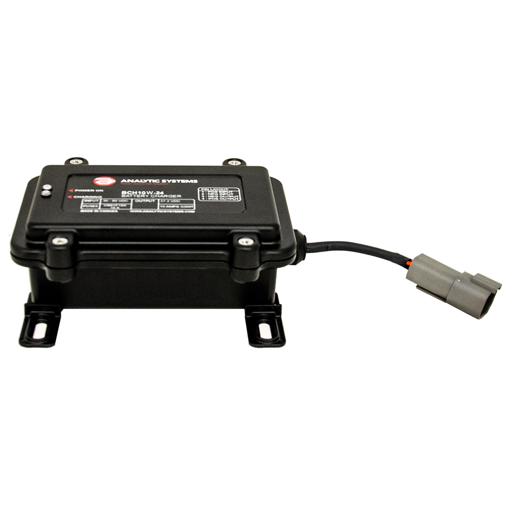 Analytic Systems Waterproof IP66 DC Battery Charger 10A, 12V Out, 20-80V In, Ruggedized CD-77030