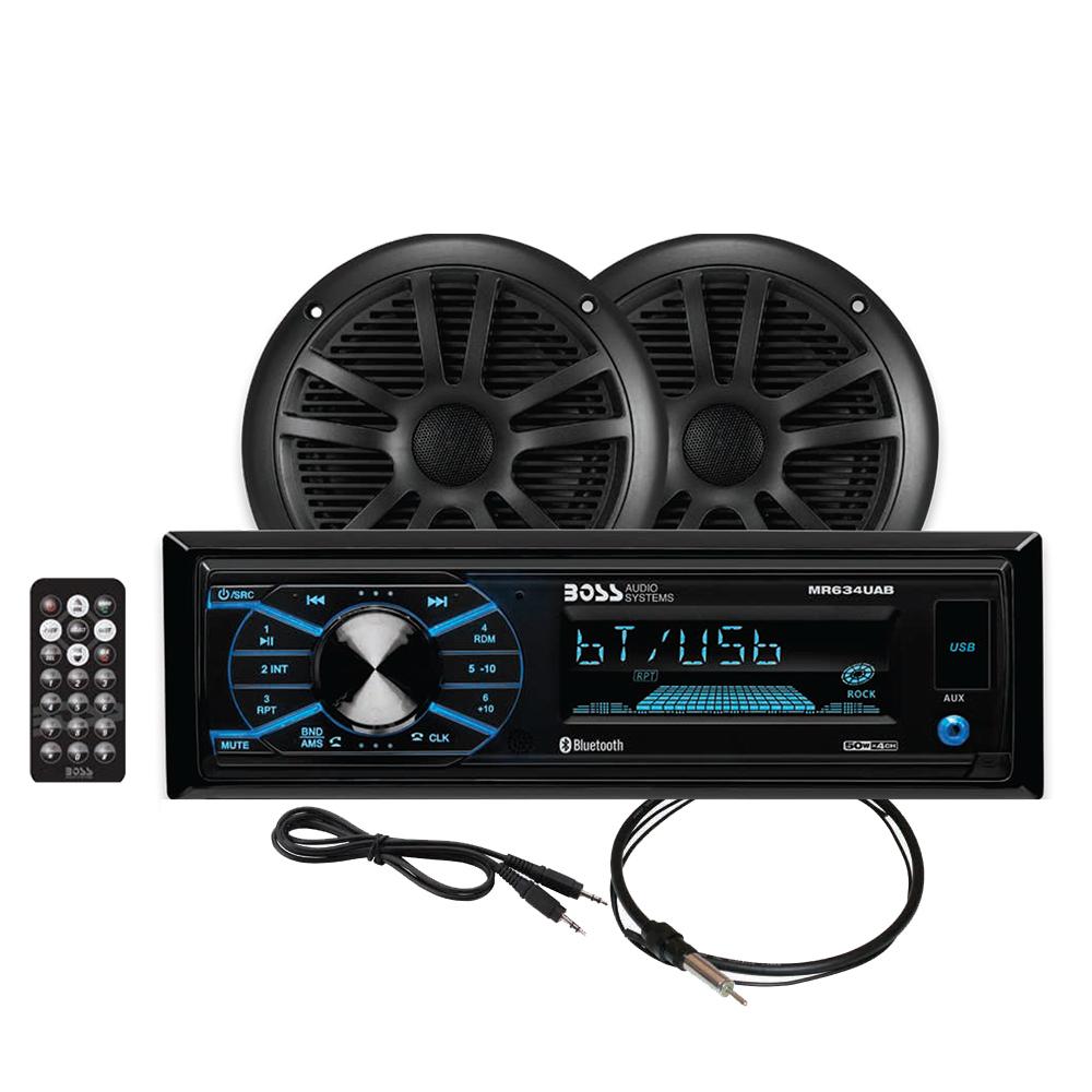 BOSS AUDIO MCBK634B.6 PACKAGE W/ MR634UAB 2 MR6B SPEAKERS