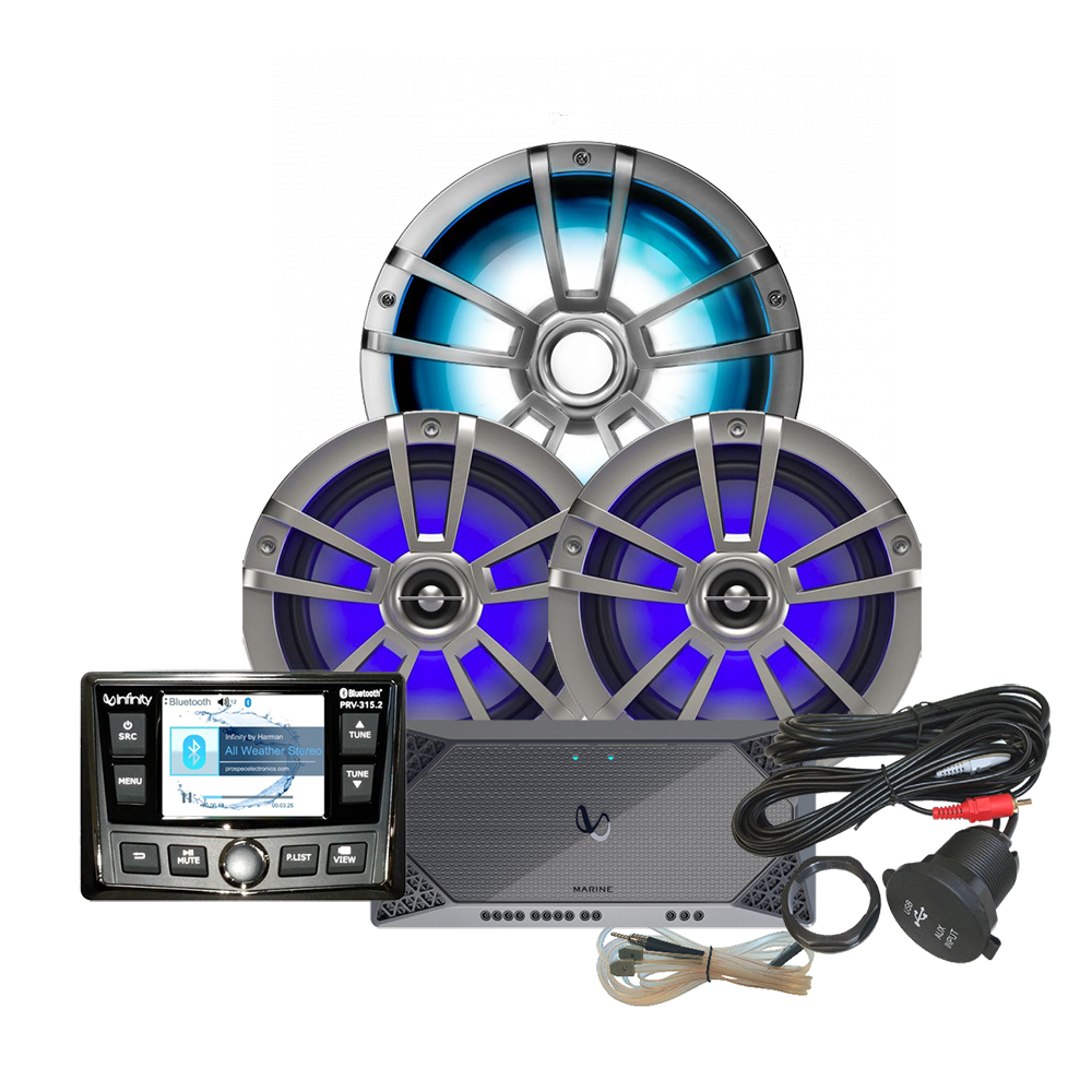 INFINITY REFM315.2 PACKAGE INCLUDES STEREO, AMP,