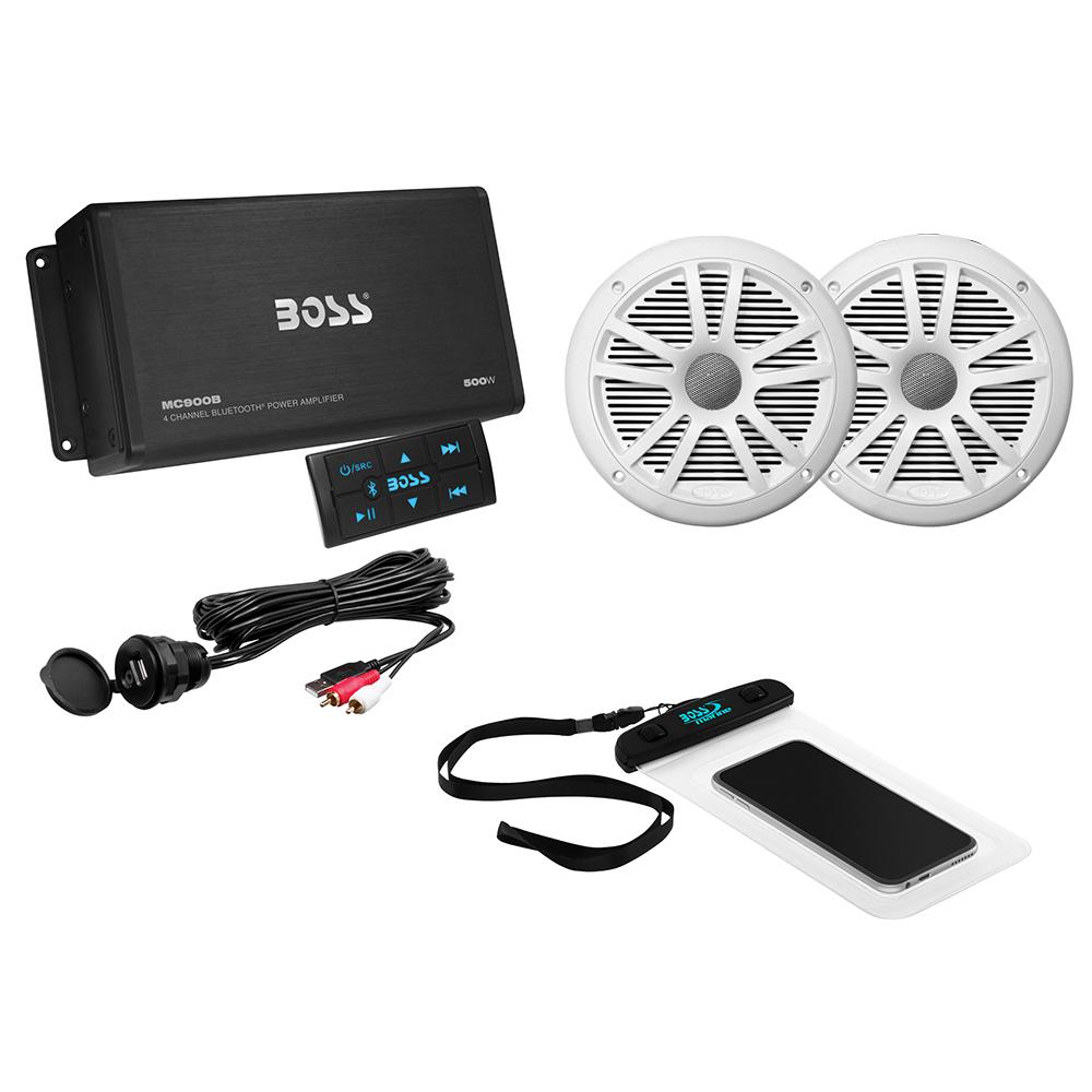BOSS AUDIO ASK902B.6 PACKAGE W/ BT MC900B AMP W/REMOTE, 2