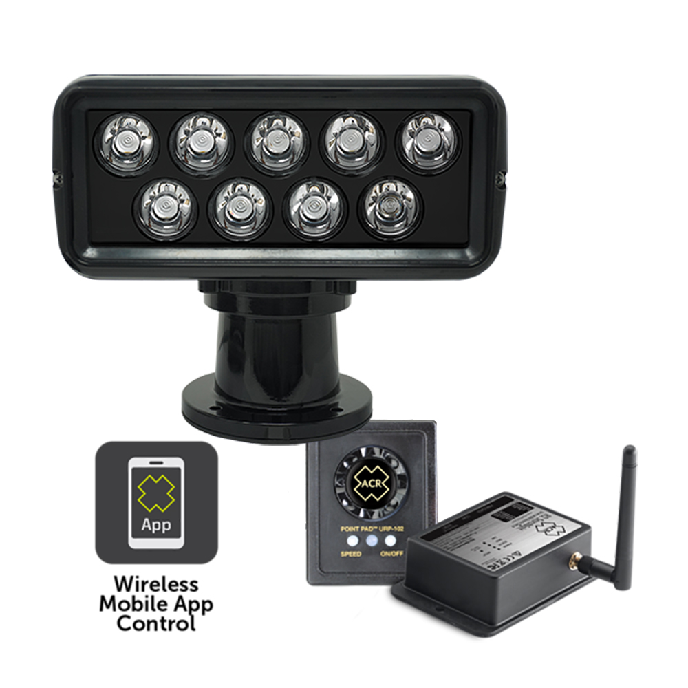 ACR RCL-100 LED Searchlight Kit w/Controller & Wired Point Pad Controller - Black - 12/24V CD-84536