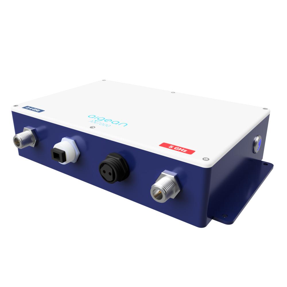 Aigean AN-7000AC High Power, Long Range Dual Band Wi-Fi Receiver w/2 - 4' Comrod Antennas CD-84984