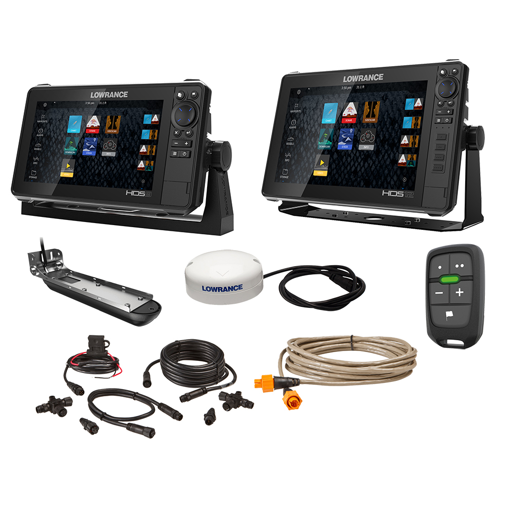 LOWRANCE HDS LIVE 9 & 12 INCH DISPLAYS BOAT IN A BOX