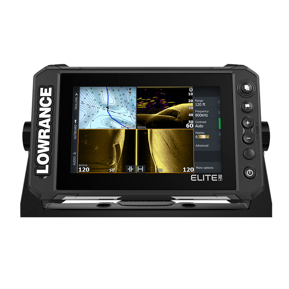 LOWRANCE ELITE FS 7 COMBO NO DUCER PRELOADED WITH C-MAP