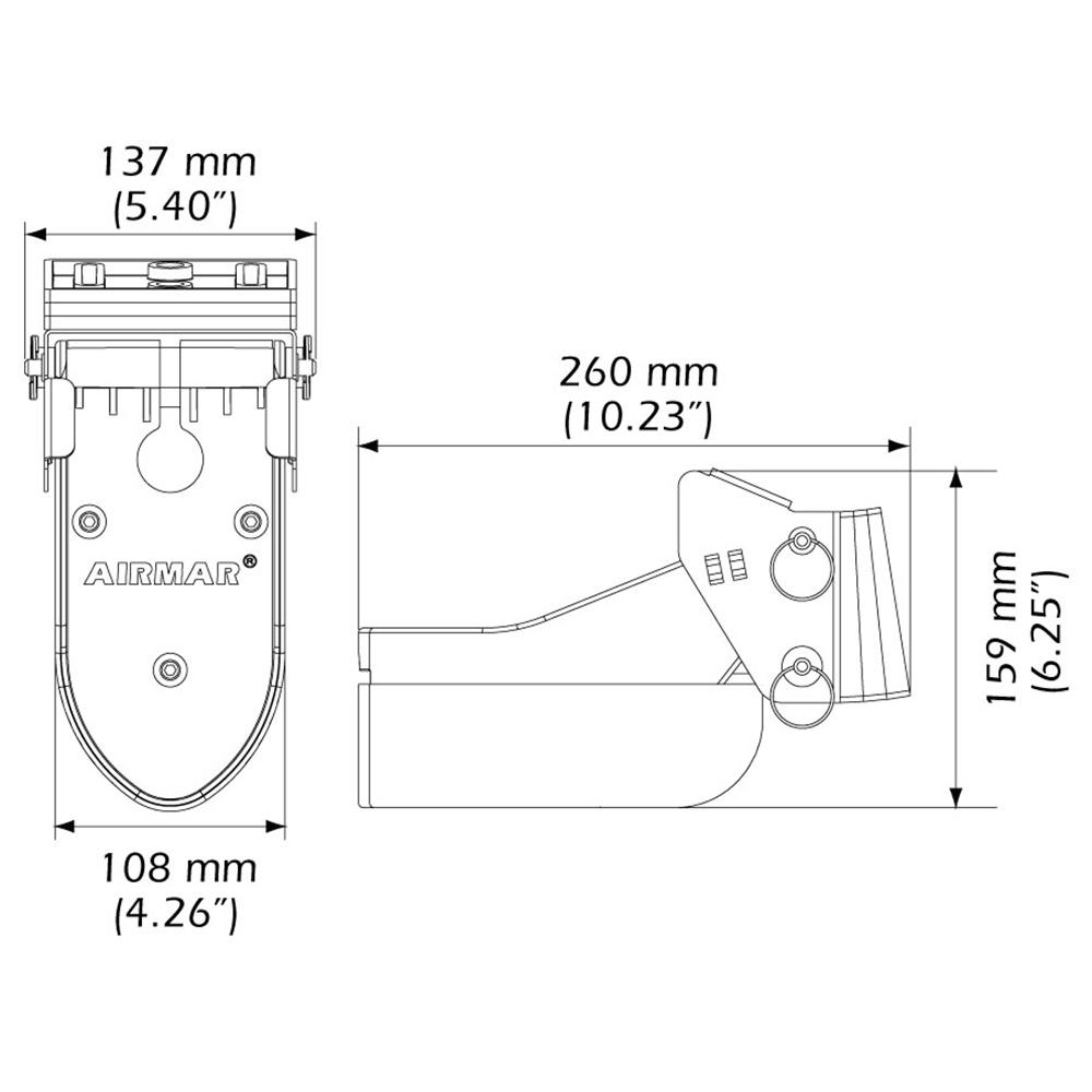 Airmar TM185C-HW High Frequency Wide Beam CHIRP Transom Mount 14-Pin Transducer f/Humminbird
