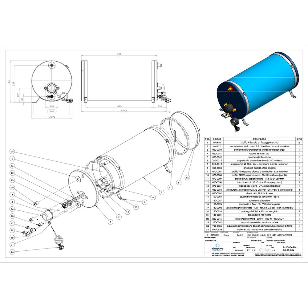 Albin Pump Marine Premium Water Heater 16G - 120V